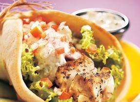 Greek Taverna Sandwiches with Garlic Feta Cheese Tzatziki