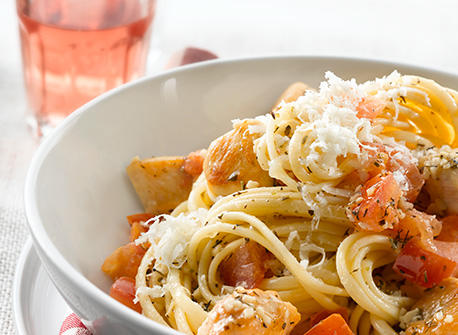 Pomodoro Sauce with Chicken and Linguine Recipe