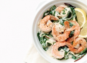 Shrimp and Hearty Greens Sauté