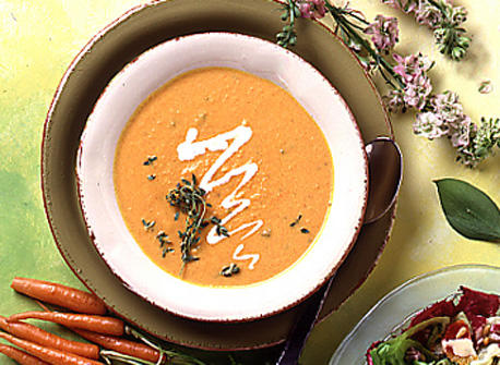 Carrot and Orange Soup with Thyme recipe | Dairy Goodness