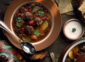 Texan Meat Ball Soup
