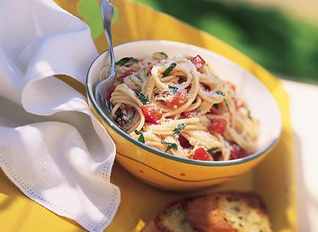Spaghettini with Fresh Tomato and Basil Sauce Recipe