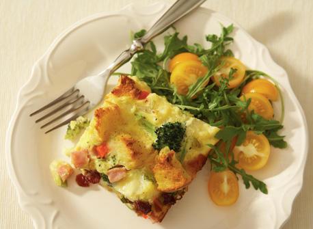 Festive Mozzarella strata Recipe