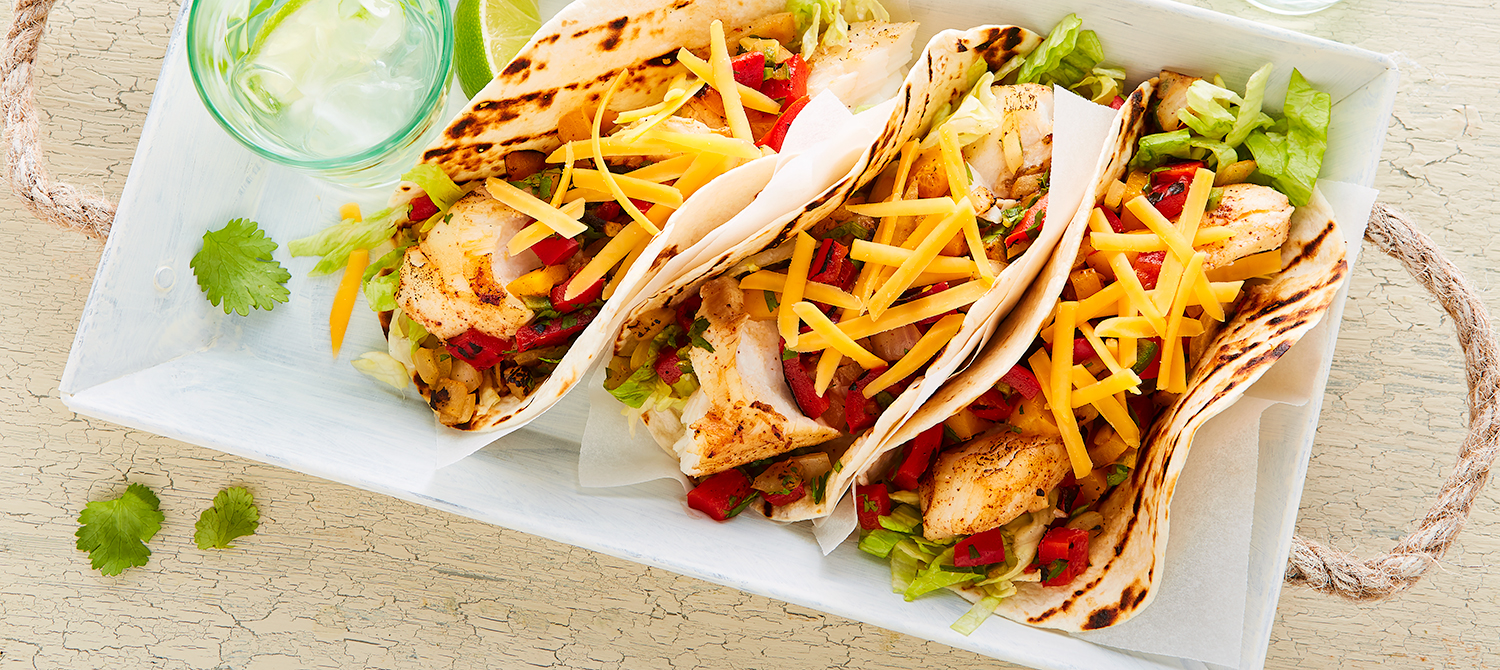 Fish cheddar tacos recipe dairy goodness for Sides for fish tacos