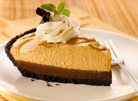 Double Layer Chocolate Pumpkin Mousse Pie recipe | Dairy Goodness