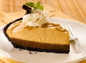 Double Layer Chocolate Pumpkin Mousse Pie