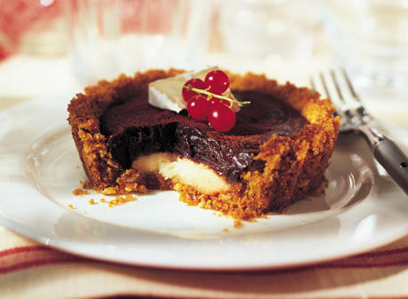Melted Chocolate and Brie Tarts Recipe