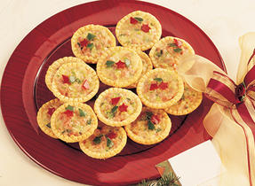 Canadian Swiss Cheese and Ham Tartlets