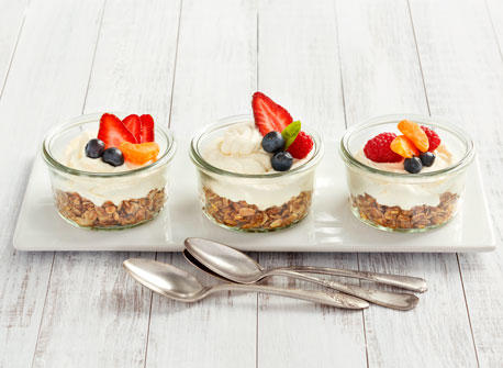 Mascarpone and Granola Tarts  Recipe