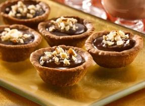 Warm Chocolate Hazelnut Truffle Tarts