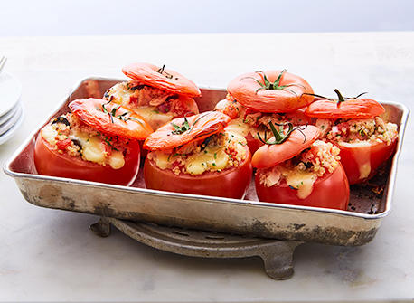 Tuna melt stuffed tomatoes Recipe