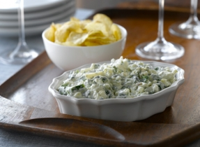 Caramelized Onion, Blue Cheese and Spinach Dip