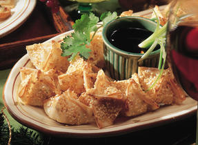 Shrimp Wontons with Asian Dipping Sauce